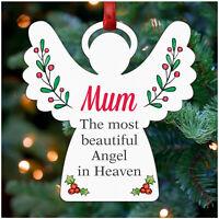 Angel Memorial PERSONALISED Christmas Remembrance Decoration Mum Dad Nan Wife