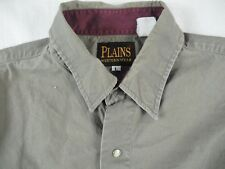 Ely Plains Mens Western Aztec Brown/Red Short Sleeve Pearl Snap Shirt Size L