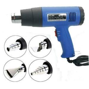 1500W Heat Gun Hot Air Wind Blower Dual Temperature + 4 Nozzles Power Heater