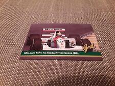 #1 Ayrton Senna McLaren Honda / Grid Motorcard 1992 Formula 1 trade card