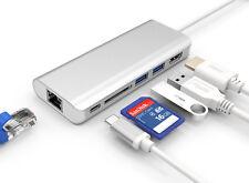 6IN1 USB-C3.1 HUB Type C to RJ45 Gigabit Ethernet+2USB 3.0+Hdmi+Type C+SD reader