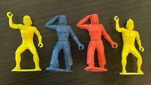 Vintage 1960s MPC Ringhand Indian Cowboy Western Plastic Figure Lot