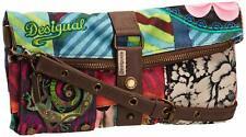 Desigual Womens Faux Leather Clutch Handbag Reptile Bag Small Crossbody Trip 194
