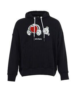 Palm Angels Bear In Love Hooded Sweatshirt, Black, Size M