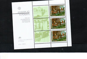 PORTUGAL MADEIRA 1982 EUROPA MINIATURE SHEET UM/MNH SG MS200 C.V. £17