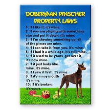 Doberman Pinscher Property Laws Fridge Magnet No 2 Red