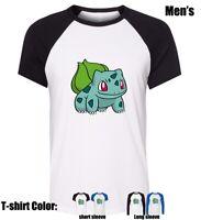 Pekimon Cartoon Bulbasaur Partten shirt Boy's men's Graphic T Shirt Tee Tops
