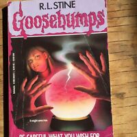 Rare Vintage R.L. Stine Goosebumps Book #12, Be Careful What You Wish For, 90s