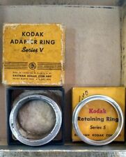 Kodak Series V (5)  Adapter Ring + Retaining Ring vintage in box e71