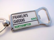 NORTHAMPTON SAINTS STADIUM BADGE STREET SIGN BOTTLE OPENER KEYRING GIFT