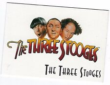 1997   THE THREE STOOGES (Duo Cards) PROMO Card  no # .