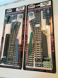 ATLAS #851 HO SCALE RIGHT & LEFT REMOTE SNAP-SWITCH CODE 100, NICKEL SILVER NIP