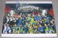 SEATTLE SOUNDERS FC 2016 MLS CUP CHAMPIONS TEAM SIGNED 11x14 inch PHOTO SOCCER