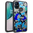 MetKase Hybrid Slim Phone Case Cover For OnePlus Nord N10 5G - BLUE STYLISH CAMO