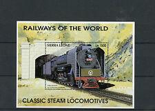 Sierra Leone 1996 MNH Railways World 1v S/S V Classic Locomotives Trains Stamps