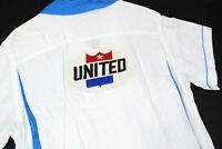 Vintage 50s Hilton UNITED Air Lines Bowling Shirt Rayon Mens M Uniform Top Loop