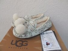 UGG RARE DISNEY TINKER BELL DAKOTA SHEEPSKIN MOCCASIN SLIPPERS, US 7/ EUR 38 NEW