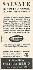 W8792 Olio di oliva BERIO - Pubblicità del 1958 - Vintage advertising