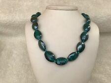 Large Bead Jade Colour Necklace (handmade )