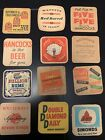 1960s Grab Bag Coasters, UK: Beer, Rum, Whisky, Collection Of 12 As Shown