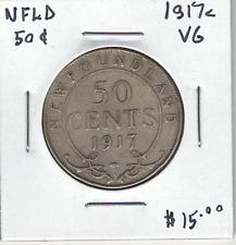 Canada Newfoundland NFLD 1917c Silver 50 Cents VG