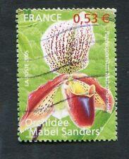 Timbre FRANCE oblitéré YT n° 3763 - Flore Fleurs Orchidée - 2005