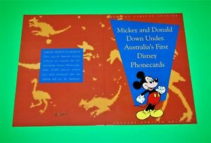 MICKEY & DONALD Down Under-Aust's First Disney Phonecards- 4 in Sequence-see pho