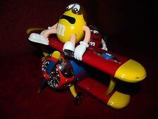 Flugzeug Doppeldecker Flieger mit Red und Yellow - M&M Spender Sammlerstück