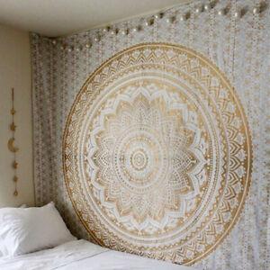 Wandteppich Deko Indisch Mandala Tapisserie Wandbehang Bettdecke Strandtuch neu↑