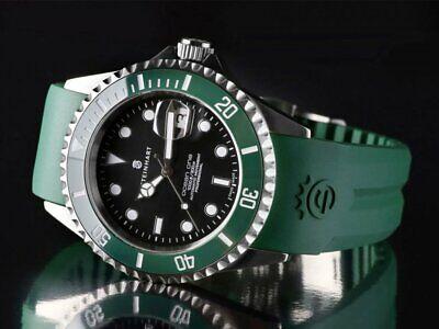 Steinhart Ocean 1 Green Ceramic 42mm Swiss Automatic Men's Diver Watch Silicone