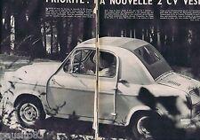 COUPURE DE PRESSE CLIPPING 1957 La Nouvelle 2 CV VESPA  (6 pages)