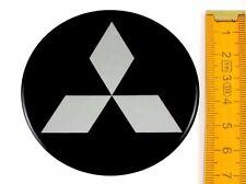MITSUBISHI ★ 4 Stück ★ SILIKON Ø70mm Aufkleber Emblem Felgenaufkleber Radkappen