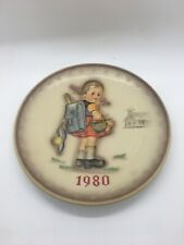 Goebel M.J. Hummel 1980 School Girl Collector Plate West Germany Hum 273