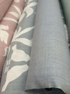 MATKA SILK.Very unique and special 100% silk. Heavy with linen look.£25 Mtr Dove
