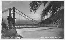 Santos Brazil Ponte Pensil Bridge Real Photo Vintage Postcard K24765