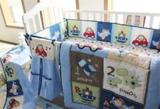 Animal Car Baby Girl Crib Bedding Set Quilt Bumper Sheet Dust Ruffle Bebe Gift