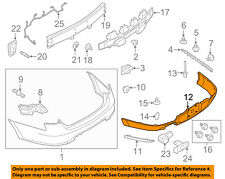 FORD OEM 13-17 Taurus Rear Bumper-Lower Cover DG1Z17F828AA