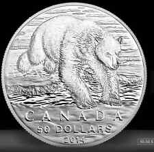 2014 Canada $50 for $50 - Polar Bear .9999 Fine Silver Coin RCM NO TAX
