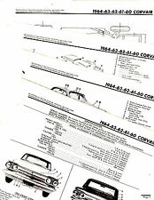 1960 1961 1962 1963 1964 CORVAIR BODY PARTS FRAME MOTORS CRASH ILLUSTRATIONS M 2