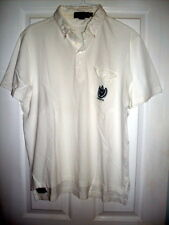Mens Vintage Short Sleeve White Polo Knit Shirt By Ralph Lauren