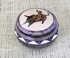 Horsehair Navajo Pottery Hilda Whitegoat Purple Bull Rider Jewelry Box