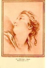 PLANCHE TAILLE DOUCE TIREE SANGUINE TIRAGE 1920 TETE D' ETUDE 151 -  DE BOUCHER