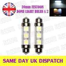 39mm 3 SMD Dome Light bulbs 12V C5W Xenon White for SEAT IBIZA LEON CUPRA x 2