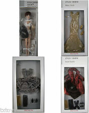 """WIGGED 13"""" REVLON TONNER DOLL OUTFITS SILVER SHIMMER MIDAS TOUCH  VELVET DAZZLE"""