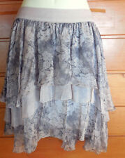 Above Knee Hand-wash Only Solid Tiered Skirts for Women