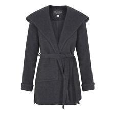 De la Creme - Women`s Winter Wool Cashmere Wrap Hooded Coat