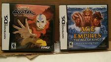 000 2 Nintendo DS Games Empty Cases & Safety Manuals Avatar Age of Empires