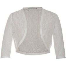 Chesca Ivory Lace Bolero Size 22. Beautiful cover up for Xmas, summer, parties.