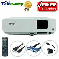 Epson 83+ LCD Projector 2200 Lumens HD HDMI-Adapter Accessories Included