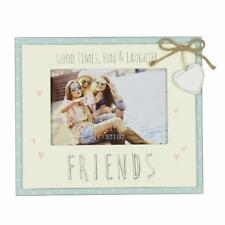 Vintage Wooden Good Times Friends Sentiment Photo Frame Gift FW555GT